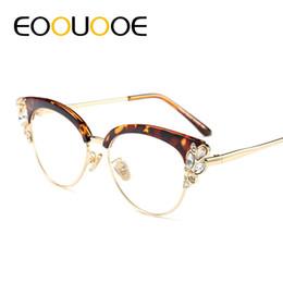 7c0abcf9ad604 2019 óculos pretos EOOUOOE Mulheres Gato Óculos de Design de ROSA Óculos de  Óculos Gafas Transparente