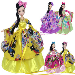 Wholesale Chinese Dress Cosplay - 1 6 Doll Accessories Party Dress For Barbie Doll Cosplay Traditional Chinese Ancient Beauty Costume Clothes For Barbie Doll