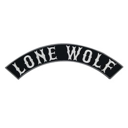 LONE WOLF Patch Outlaw Patch Bas Broderie Twill Biker Rocker Iron Sur Patchs Moto Club Gilet Veste Badges Applique Livraison Gratuite ? partir de fabricateur