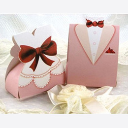 Canada Rose 30 pcs Mariée et 30 pcs Marié Boîte De Papier De Faveur De Mariage Boîtes De Bonbons Fête D'anniversaire Paquet Cadeau Boîte Chocolat Bonbons Sac De Papier Offre