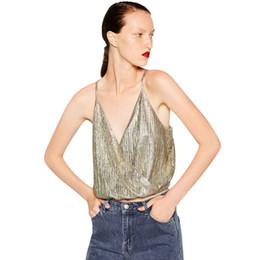 ärmellose bluse heiß Rabatt Hot Sexy 2017 Mode Frauen Sleeveless Bluse Casual Pailletten Crop Top Tank Tops Hemd Camis