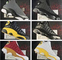 Super chats en Ligne-2019 Nouveau Pas Cher 13 Chat Noir 3 M Ellis Kawhi Leonard All star Jeu 13s Chaussures De Basketball pour Super qualité XIII Baskets Taille