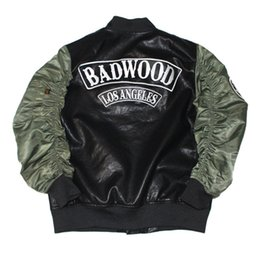 Wholesale Alpha Leather - Fashion Military Bomber PU Leather Motorcycle MA1 Men Jacket YEEZUS Coat Alpha Camo Pilot Jackets Hip Hop Pilote Veste Homme