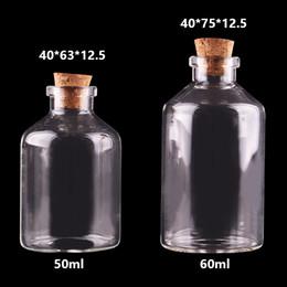 50 мл 60 мл маленькие стеклянные бутылки с пробкой пустые бутылки специи банки подарок ремесла флаконы от