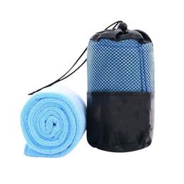 Asciugamani rapidi asciugamani viaggio online-2017 Nuovo solido portatile Asciugatura rapida Asciugamano Bellezza Microfibra Sport all'aria aperta Campeggio Asciugamani da viaggio con la borsa