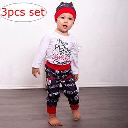 Хлопок бейсбол штаны онлайн-Модули детские Бейсбол печати наряд девушки хлопок Белый письмо комбинезон черный красный брюки шляпа 3 шт. Набор