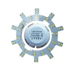 tarjeta de pcb color Rebajas Alto brillo LED Lámpara de techo Lámpara de ahorro de energía 24W 16W 12W 220V Placa PCB Fuente de luz modificada Cambio de color Placa de bombilla LED