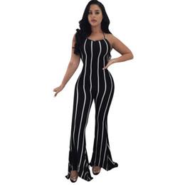 e7ce3049a5a4 2019 salopette Feitong Summer Women Combinaison 2018 Clubwear Flare sans  manches à jambes larges Sexy à
