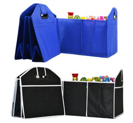 Wholesale Foldable Bags Wholesale - Storage Bags Foldable Car Organizer Boot Stuff Food Storage Bags Bag Case Box trunk organiser Automobile Stowing Tidying Interior Accessorie