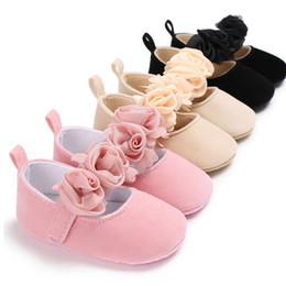 2019 материальное стадо Девочка высокое качество Flock материал мягкие удобные туфли для детей мягкой подошвой Prewalker противоскользящие первые ходунки обувь дешево материальное стадо