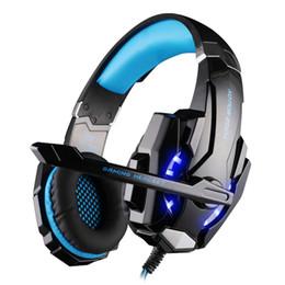 auricolari dacom Sconti KOTION OGNI Cuffia Bluetooth senza fili Cuffia da gioco auricolari stereo auricolari con microfono luce per PC LOL gioco