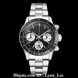 Relógio cronógrafo vintage vintage on-line-Relógio de luxo dos homens cronógrafo do vintage perpétuo paul newman japonês de quartzo de aço inoxidável homens mens watch relógios relógios de pulso 165000aaaaa