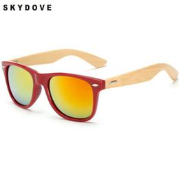 2019 индивидуальные солнцезащитные очки SKYDOVE Бренд Bamboo Солнцезащитные очки Женщины Зеркало Круглые бамбуковые очки для очков Мужчины UV400 Деревянные Настроить деревянные солнцезащитные очки скидка индивидуальные солнцезащитные очки