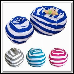 Wholesale Bedroom Mats - 4 Colors Storage Bean Bags Kids Plush Toys Beanbag Chair Bedroom Stuffed Animal Room Mats Portable Clothes Storage Bag CCA8500 20pcs