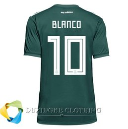 Wholesale Wholesale Mexico - DHL free TOP THAI Quality 2018 Mexico Home world cup soccer Jersey shirt for men quick-dry BEST QUALITY 002