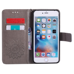 6s iphone mandala mais caso on-line-Casos de couro da aleta para fundas apple iphone x se 5 5s 6/6 s 7 8 plus 7 mais coque mandala flor wallet capa stand casos de telefone