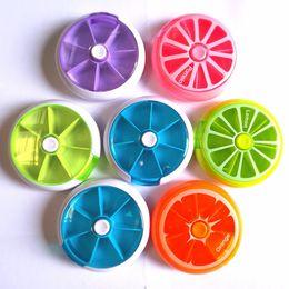Wholesale auto stores - Auto Hand Press Rotate Seven Lattice Storage Box Creative Lemon Color Design Boxes For Mini Candy Store Multi Function Kit 2 5qm Z