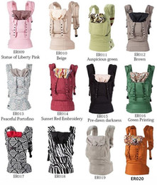 Wholesale Cotton Baby Carrier - Ergonomic Organic Cotton Baby Carrier Portable Multifunctional Kid Carriage Wrap Backpack Portabebe Adjustable Newborn Baby Sling
