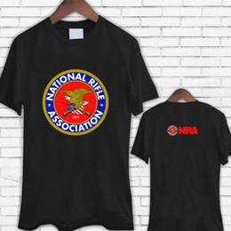 23f70643 Classic Tops Tee Shirts O-Neck National Rifle Association Nra Guns Rifles  2Nd Amendment Black Men Short Sleeve Print Tee