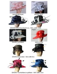 Wholesale Church Wedding - Wide brim sinamay hats for church,Kentucky Derby,Wedding,party,races,sell in mix styles mix colors