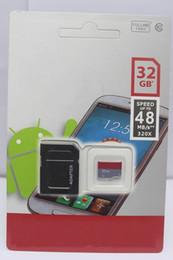 Wholesale 32gb Mini Sd Cards - 2018 Hot Sale Memory Cards up to 80mb   sSFG Memory Card 32GB 64GB 128GB GIDF 10 TF SD Mini Card 50pcs
