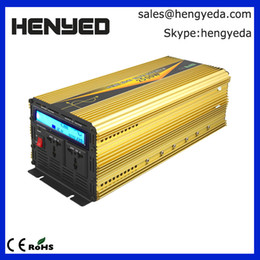 Grand écran LCD 2500W Onduleur à onde sinusoïdale pure maison DC12V AC220V 50Hz Puissance de crête 5000W ? partir de fabricateur