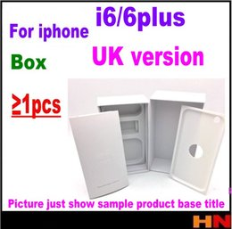 Wholesale Uk Accessories - 1pcs For iPhone 6 6p plus UK Version Empty Phone Package Packing Box Case Without Accessories phone box protectors free shipping