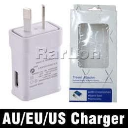 Au сотовые телефоны онлайн-Высокое качество 5 В 2A AU ЕС США Великобритания Plug USB переменного тока стены дома зарядное устройство быстрая зарядка путешествия адаптер зарядные устройства сотового телефона с розничной упаковке