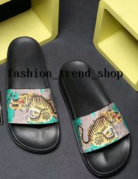 Wholesale Nice Hotel - fashion Sandals 2018 Summer Slipper for Men&women tiger chicken Beach Slides Men Slippers girls Shoes free delivery new style nice color