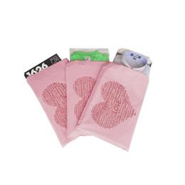 bolsa en forma de sobre Rebajas 28 * 42 cm Poly Mailer Pink en forma de corazón de color de correo postal sobres bolsas auto-sellado adhesivo bolsas de correo envío gratis ZA5670