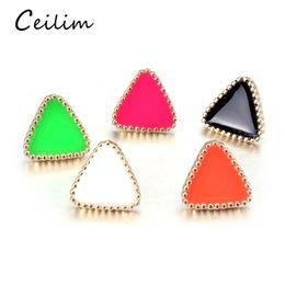 b5f40d056 2019 estilo coreano moda simples Moda 1 Pair Western Triangle Geométrica  Brinco Brincos De Cor Doce