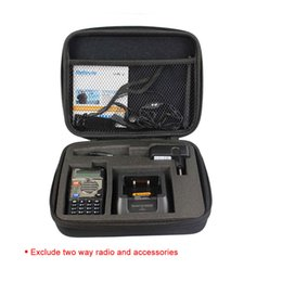 Wholesale Radios Communicators - 2pcs Tailored Storage Walkie Talkie Box Bag Carrying Case for Baofeng UV-5R Retevis 5R TYT TH-F8 Radio Communicator J7105N