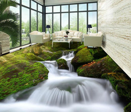 lunga distanza dalla fotocamera Sconti foto wallpaper fiore HD 3D piante verdi flusso fine acqua a lunga distanza piano di pittura foto carta da parati natura