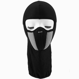Wholesale Wholesale Skull Motorcycle Helmets - Outdoor Full Face Mask Hunting Bicycle Cycling Skateboard Motorcycle Skull Ghost Ski Riding Hat Balaclava Protect Cycling Helmet