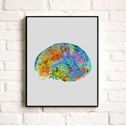Wholesale original paintings canvas - Original Watercolor Human Heart Anatomical Canvas Painting Wall Art Poster Print Pictures living room Home Decor wall hanging