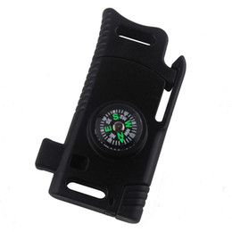 4 Farben Kunststoff Paracord Schnalle gelten für Outdoor Survival Camping Notfall mit Kompass Whistle Messer Paracord Schnalle von Fabrikanten