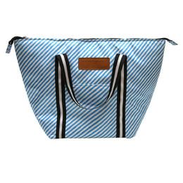 Mode Vogue rayures multifonctionnel déjeuner boîte chaleur conservation paquet sac à lunch 50 * 33cm ? partir de fabricateur