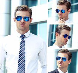 Wholesale Beach Sunglasses Aviator - Pilot Sunglasses For Men Women Designer Mirror Sunglass Top Quality Hexagon Classic Luxury Brand Sun Glasses Aviator UV400 Driving Fishing