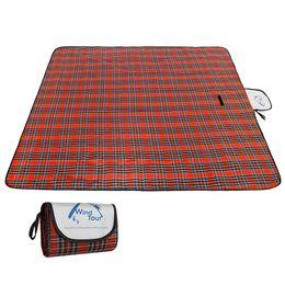 Tappetini da picnic pieghevoli online-Wind Tour Outdoor Tappetino da picnic Pieghevole Camping Mat all'aperto Coperta da spiaggia Coperta da picnic portatile impermeabile