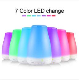 Светодиодный световой сигнал онлайн-100 мл 7 цветов эфирное масло диффузор портативный аромат увлажнитель воздуха диффузор светодиодные ночь свет ультразвуковой прохладный туман свежий воздух спа ароматерапия