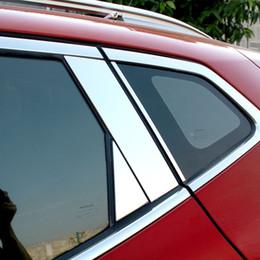 2019 cromo nissan guarnições 10 pcs Car Window Chrome Pillar Pós Guarnição Guarnição Moldar Guarnição Sotaque Para Nissan QASHQAI J11 2016 2017 2018 Exterior Styling Acessórios desconto cromo nissan guarnições