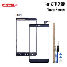 экран мобильного телефона zte Скидка Alesser For ZTE Z988 Sensor Touch Screen Perfect Repair Parts Touch Panel +Tools +Adhesive For ZTE Z988 Mobile Phone Accesory