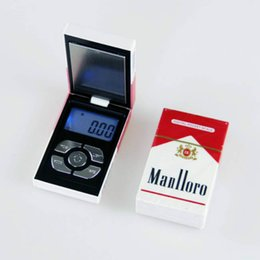 Deutschland Zigarettenschachtel Mini Pocket Protable Digitale Schmuckwaage für Gold Diamant Waage Waage 500g * 0,01g Versorgung