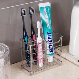 pente titular Desconto Escova De Dentes De Aço Inoxidável Eco-Friendly E Toothpaster Titular Toothbrush Organizer Box Acessórios Do Banheiro Titular Do Pente