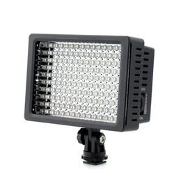 Ha portato cannone leggero online-Lampada ad alta potenza LightDow LD-160 160 LED Video Camera Camcorder con tre filtri per cannon Nikon Pentax Fujifilm Telecamere