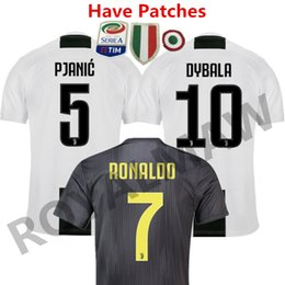 55d83e123 WITH SERIE A PATCH 2018 19 JUVENTUS SOCCER JERSEY HOME THIRD AWAY MAGLIA  FOOTBALL SHIRT 1819 RONALDO MAILLOT DYBALA PJANIC MATUIDI CAMISETAS