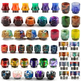 Wholesale Resin Wholesale - Honeycomb 810 Thread Resin Drip Tip Snake Skin Colorful Cobra Vape Drip Tips for TFV8 TFV12 Prince TFV8 Big Baby Tanks 528 RDA