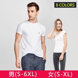 Wholesale Top Brands Fashion Logos - 2018 New Fashion 100% Cotton T-shirt Women Men's Brand LOGO Embroidery T Shirt Women Tops Casual Brand Tee Shirt Femme Woman Clothing