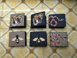 Новый роскошный бренд женщины кошелек Кошелек модельер животных pattern высокое качество кожа мужчины короткие бумажник карты держатели от