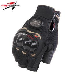 Мотоциклетные перчатки байкер онлайн-PRO-BIKER Motorcycle Gloves Motorbike Racing Half Finger Summer Moto Gloves Motorbike Riding Racing Bike Protective M-XXL